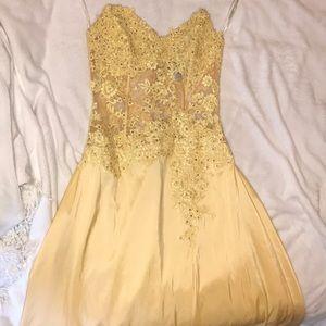 Jovani yellow prom dress